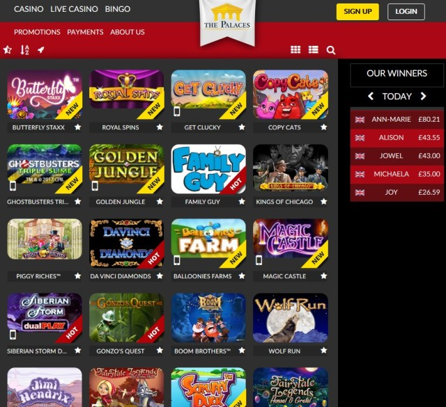 The Palace Casino Online Slots