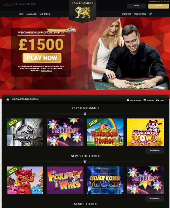 Fable Casino Free Bonus Spins