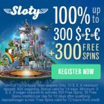 Sloty Casino | £1500 free cash and 300 free spins | Big Bonus!