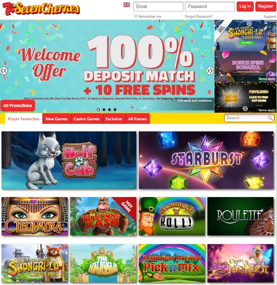 Seven Cherries Casino Review - Online & Mobile