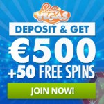 Slotty Vegas™ - 50 exclusive free spins and 100% up to €500 bonus