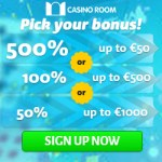 CASINO ROOM – 100 free spins and €/£/$ 5000 new player bonus