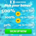 CASINO ROOM – 100 free spins and €/£/$ 5000 new player bonus