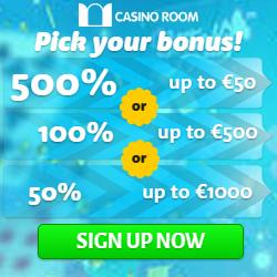 CASINO ROOM - 100 free spins and €/£/$ 5000 new player bonus