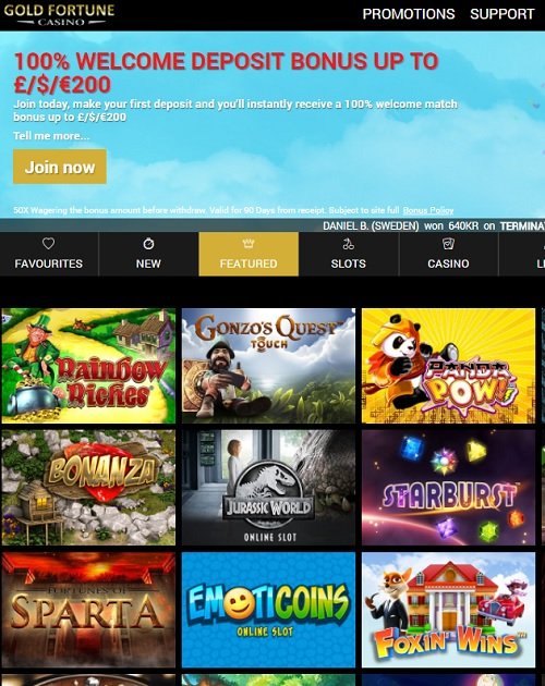 Gold Fortune Casino Online & Mobile Free Bonus