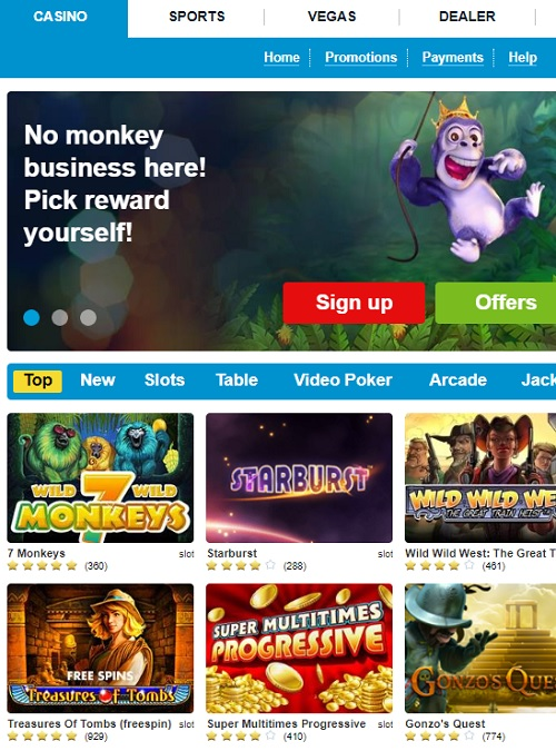 Propa Win Casino free spins bonus