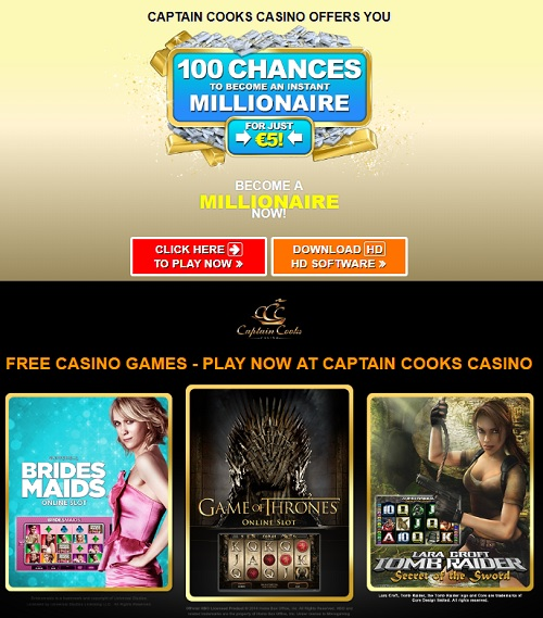 Captain Cook's Casino Microgaming