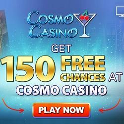 Cosmo Casino [register & login] 150 free spins bonus on Mega Moolah