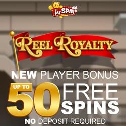 Mr Spin Casino [register & login] 50 free spins - no deposit bonus for UK