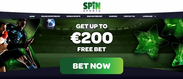 SpinSports.com €/$200 free bet bonus