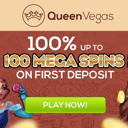 QueenVegas.com Casino 100 free spins no wagering required