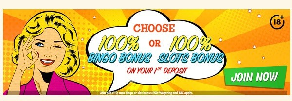 Bingo Extra Casino 100% bonus for new players