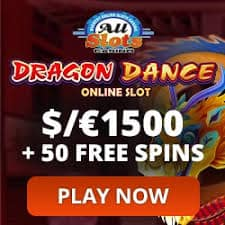 1500 free bonus and 50 free spins at All Slots Online!
