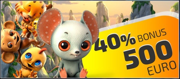 40% up to 500 EUR bonus