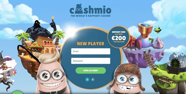 Register at Cashmio.com and get 20 free spins no deposit bonus