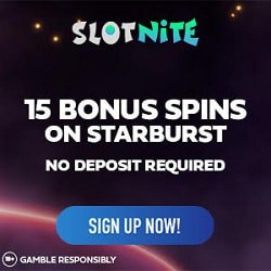 15 free spins bonus no deposit needed (Starburst) - exclusive promotion