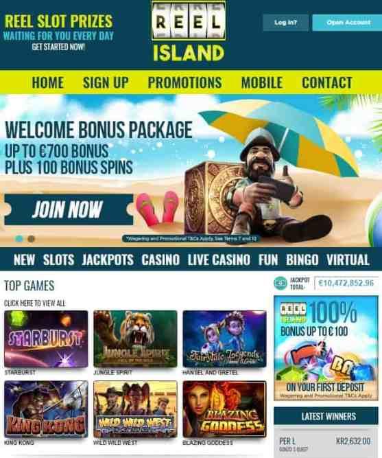 ReelIsland Casino free bonus