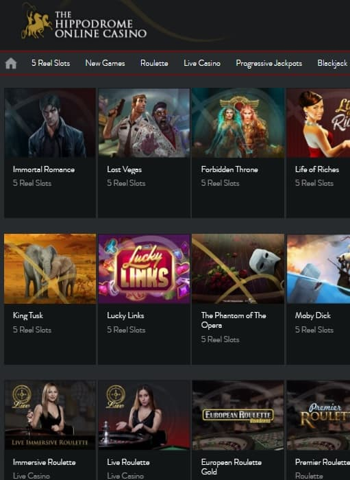 Hippodrome Casino Online Review