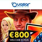 Quasar Gaming Casino [review] 150% bonus and €800 free cash