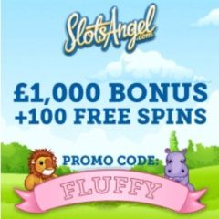 SLOTS ANGEL - 100 free spins and £1000 casino bonus - gratis!