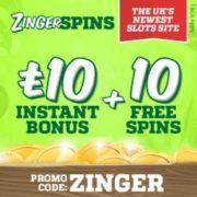 Zinger Spins Casino free bonus