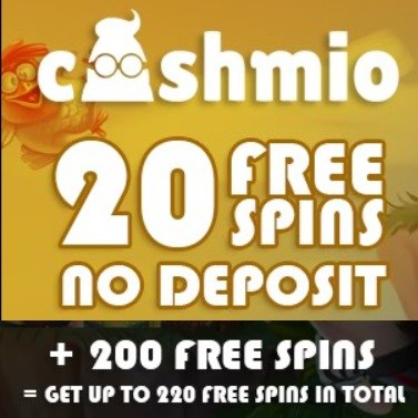 Cashmio Casino 220 free spins and 100% up to €200 free bonus