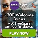 Omni Slots Casino 50 free spins and 100% up to €300 welcome bonus