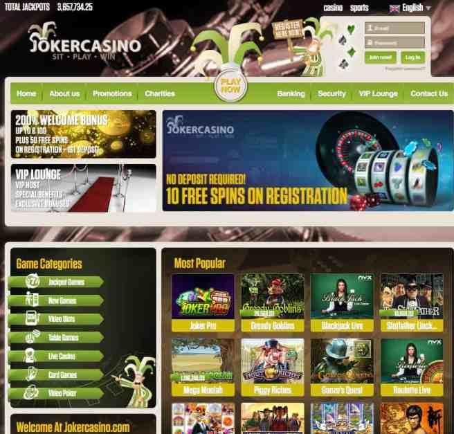 Joker Casino Online & Mobile
