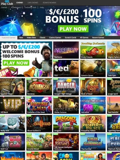 Play Club Casino Review