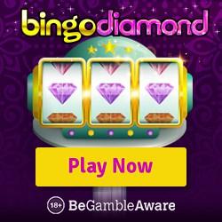 Bingo Diamond Casino 10 FS NDB   150 free spins   £200 free bonus