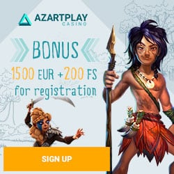 AZART PLAY CASINO – 200 free spins and 300% up to €1500 bonus