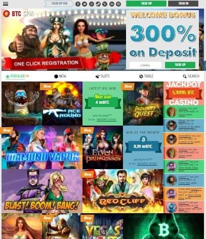BTCSPIN Casino Review