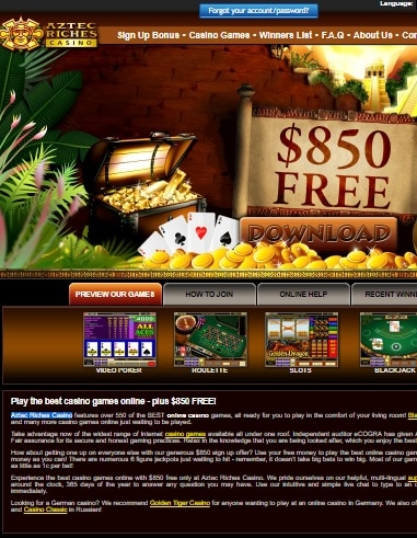 Aztec Riches Casino Online