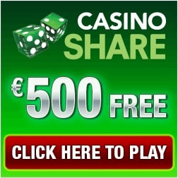 Casino Share 100 free spins + 175% up to $/€500 welcome bonus