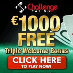 Challenge Casino 100 free spins and 175% up to €/$1000 free bonus