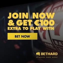 Bethard.com Casino & Sports - 200% free bonus and €100 free spins
