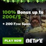 Betive Casino 200 free spins bonus – play to win jackpots!