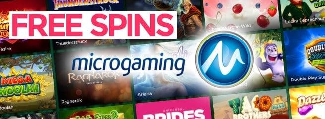 MICROGAMING free bonus spins