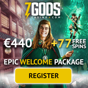 7 Gods Casino Online & Mobile: €/$/£440 bonus + 77 free spins