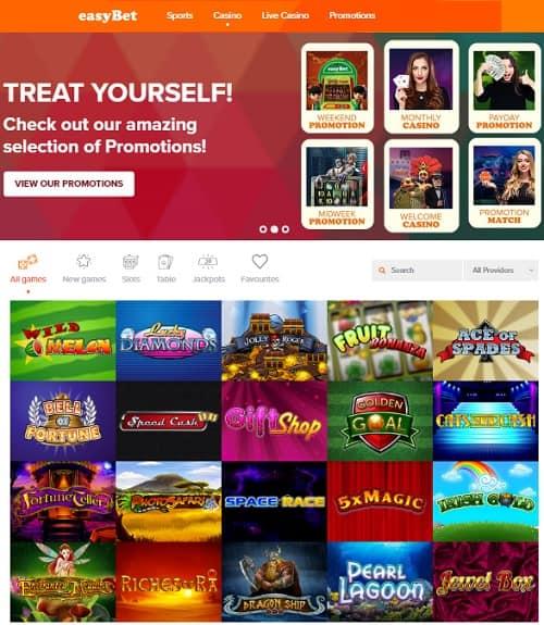 Easybet Casino free spins bonus