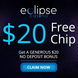 Eclipse Casino $20 no deposit required! Free bonus code for USA!
