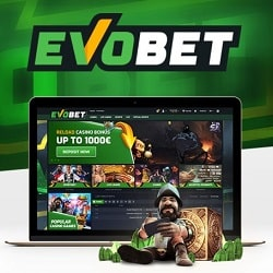 Evobet Casino & Sports - €1000 free bonus on every deposit