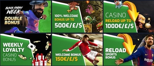 Evobet bonus and free spins