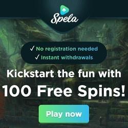 Spela Casino (spela.com) - 100 gratis spins - Pay N Play ® Truslty