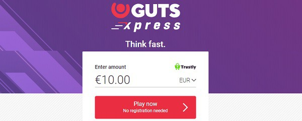 Guts Xpress Casino no bonus and no free spins