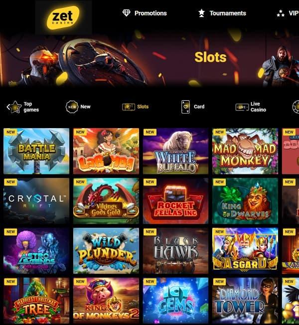 Zet Casino register now for free