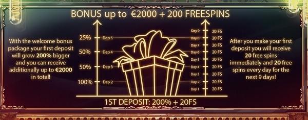 JoyCasino.com $2000 free money