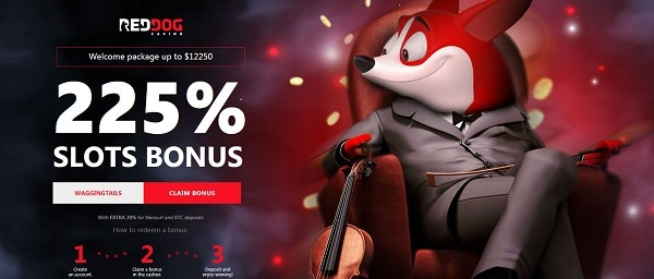 Red Dog Casino 225% welcome bonus