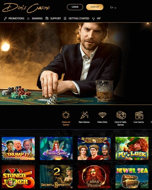 Dons Casino welcome bonus