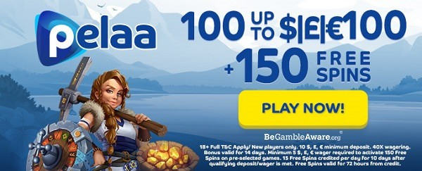 $1000 bonus and 150 free spins for new players